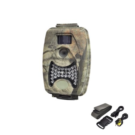 Water Resistant Night Vision Wild Game Trail Scouting Camera, Record Video, Take Pictures, Invisible Flash