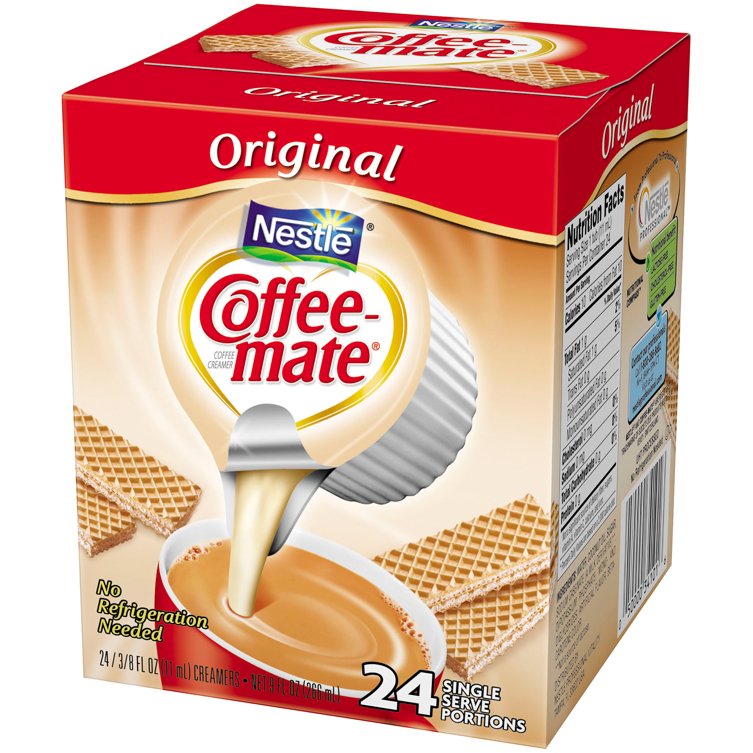 COFFEE-MATE Original Liquid Coffee Creamer 24 ct Tubs