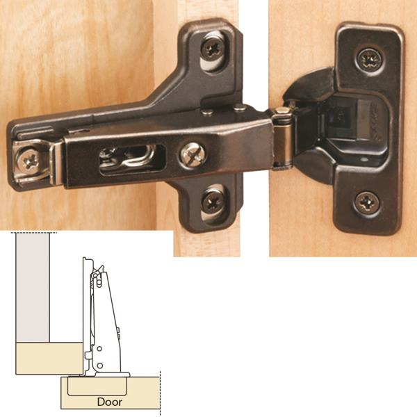 "Salice Silentia 105° Soft Close Faceframe 1/2"" Overlay Hinge, Ti Finish"