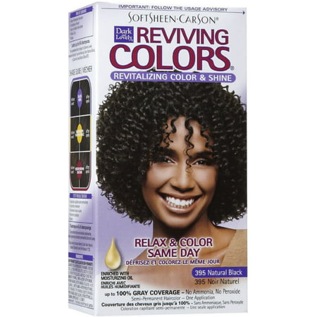 Dark and Lovely Reviving Colors, 395 Natural Black, 1