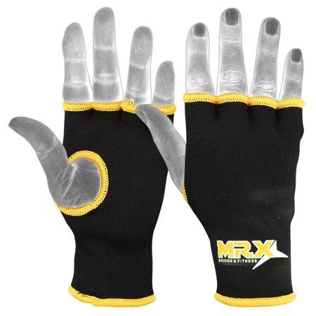 MRX Muay Thai Boxing Inner Gloves Protective Hand Wrap (Black,Yellow