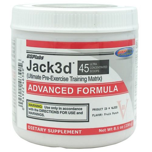 USP Labs Jack3D Advanced, Fruit Punch, 230 G