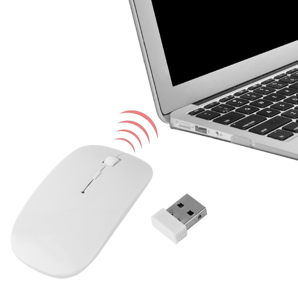 Lightweight Durable Ultra Thin 2.4G 4 Buttons 1200 DPI Wireless Touch Optical Mouse Plug and Play Right Hand Operation