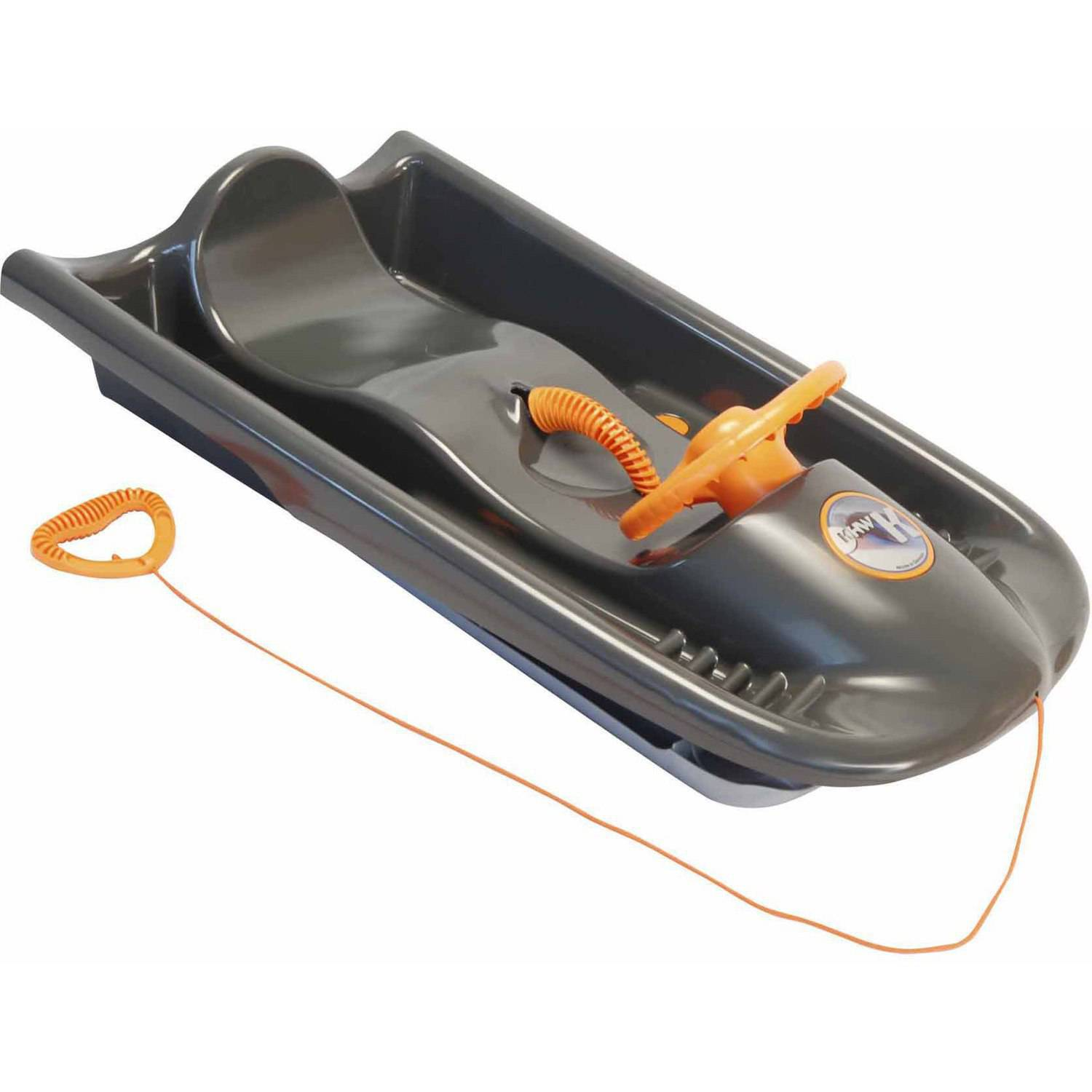 Snow Flyer Sled, Dark Grey