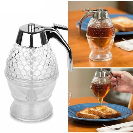 Honey Dispenser - Acrylic Honey Dispenser Syrup Dispenser 200ml Juices Honey Storage Pot Kitchen Tools