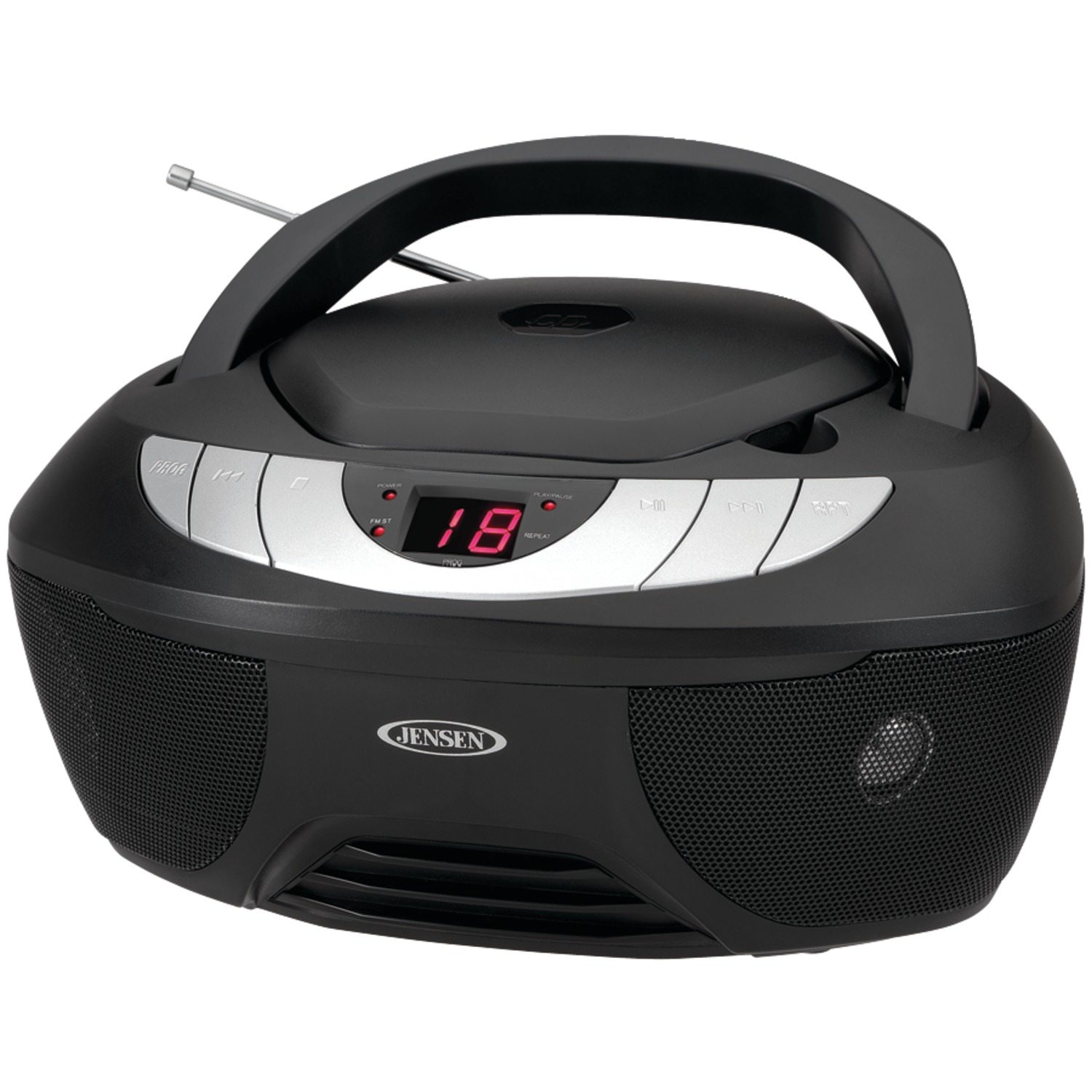 Jensen CD-475 Portable Stereo CD Player With AM/FM Radio & Kinetik C 24 PK