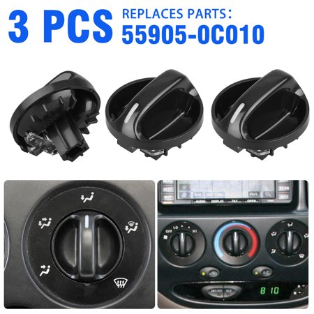 55905-0C010 AC Climate Control Knob Heater A/C or Fan Replace for Toyota Tundra 2000, 2001, 2002, 2003, 2004, 2005, 2006- Air Conditioner Heater Control Switch Knob Air Conditioner Switch 559050C010