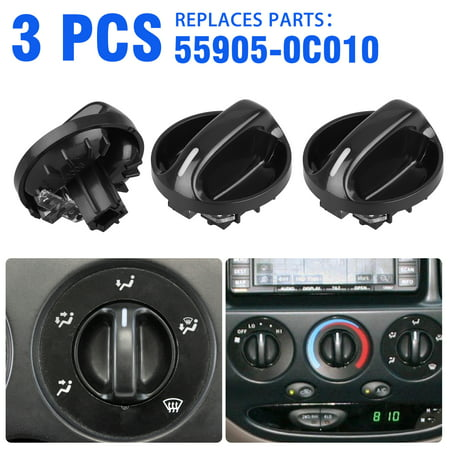 55905-0C010 AC Climate Control Knob Heater A/C or Fan Replace for Toyota Tundra 2000, 2001, 2002, 2003, 2004, 2005, 2006- Air Conditioner Heater Control Switch Knob Air Conditioner Switch