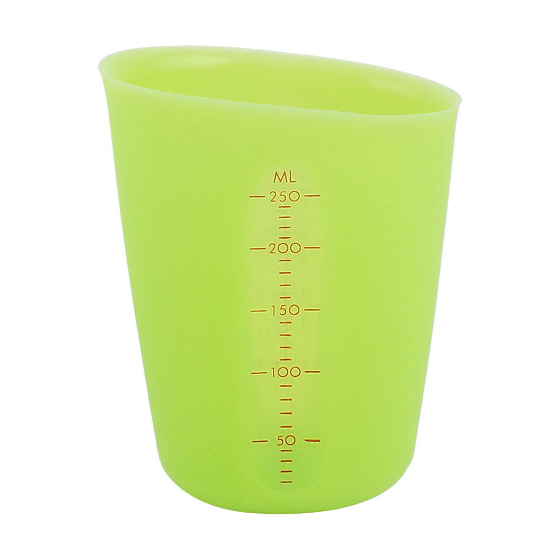 250ml Capacity Silicone Food Liquid Kitchen Household Measuring Cup Green by Unique-Bargains