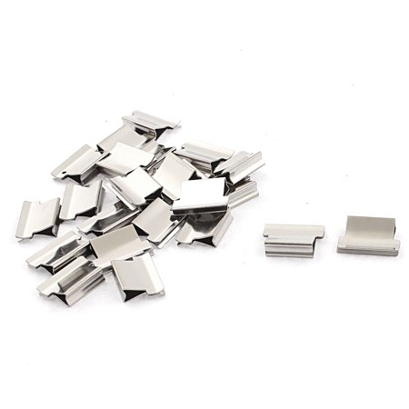 Unique Bargains Metal Refill Paper Filing Binding Clam Clip Stapler Dispenser Silver Tone 24pcs