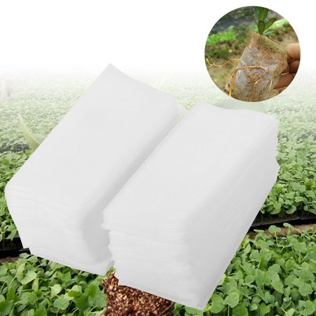Yosoo 100Pcs Non-woven Nursery Pots Seedling Raising Bag Plants Pouch Home Garden Supply New, Nursery Pots, Non-woven Seedling (Town Garden Nursery)