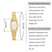 Gobestart Rose Gold Plated Women's Elegant Rhinestone Bracelet Fashion Watches