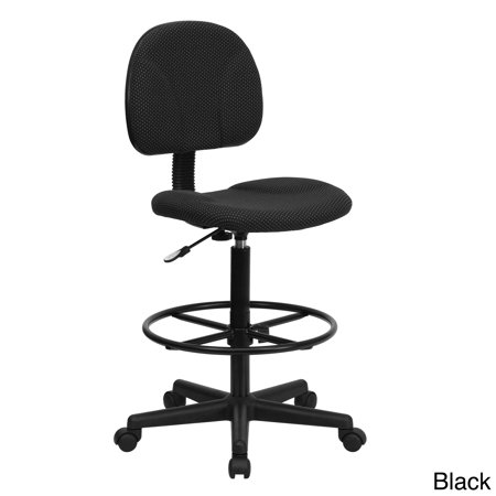 Lancaster Home Fabric Drafting Chair with Adjustable Height and Foot Ring
