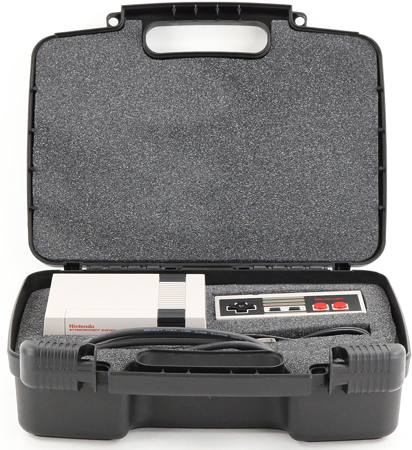 Hard Storage Carrying Case For Gaming Consoles Fits Nintendo NES Classic Mini Game Console, Two Controllers and Accessories [Nintendo DS]