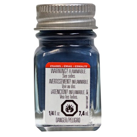 Testors Enamel Paint, .25 oz., Flat Sea Blue