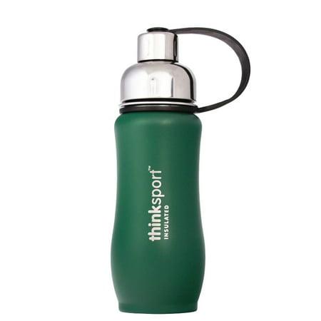 Safety Coated Bottles - Thinksport Insulated Sports Bottle, Coated Green, 12 Oz (350ml)