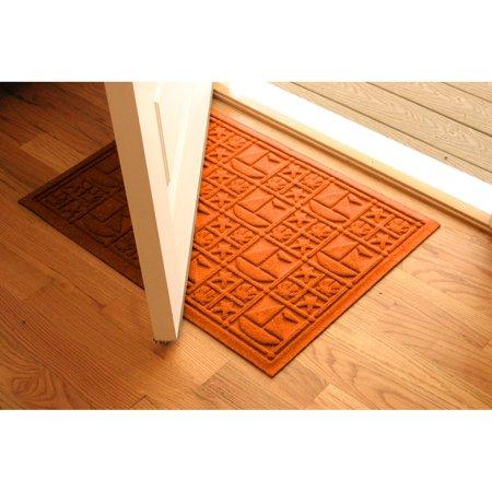 Bungalow Flooring Water Guard Nautical Indoor / Outdoor Door Mat - 2 x 3 (4 Yellow Nautical Decor)