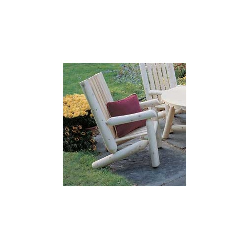 Rustic Natural Cedar Furniture Cedar High Back Lounge Armchair