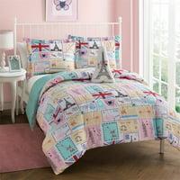Bonjour 4-Piece Paris Comforter Set