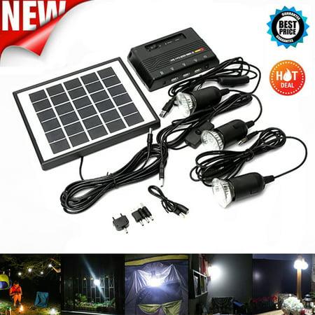 4W 6V Outdoor Solar Power Panel LED Light Lamp Charger Garden Home System Kit Garden Path