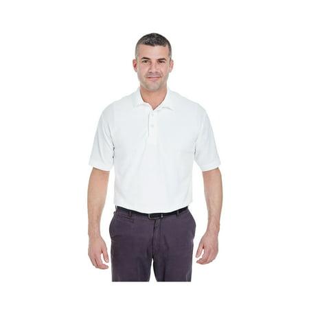 UltraClub Men's Whisper Pique Polo Shirt, Style 8540