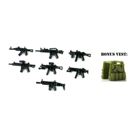 Custom Modern Combat Weapons Pack Designed for Brick