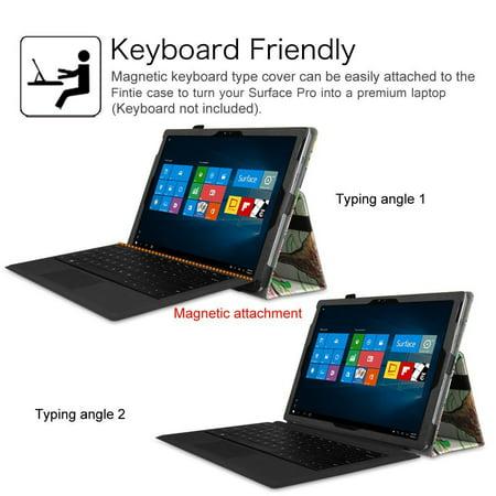Microsoft Surface Pro 4 Case - Etui Fintie Folio avec support de stylet pour tablette Surface Pro 4 12,3 pouces, Love Tree - image 2 de 7