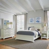 Dover White Queen Bed, Nightstand, Dresser & Mirror Bedroom Set