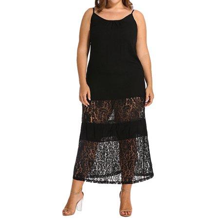 Women Lace Maxi Sundress Sleeveless Long Dress Strapless Dresses Black Lace Mardi Gras Mask