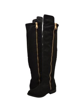 bb6bdeb1140 Product Image Bamboo Montana 70S Women s Shoe Knee High Boots Black Faux  Suede