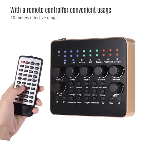 Portable Rechargeable Live Sound Card Voice Changer Built-in Multiple Sound Effects BT Connection with Remote Control for PS4 Xbox Computer Smartphone Tablet for Singing Live Streaming Chating Music R - image 2 of 7