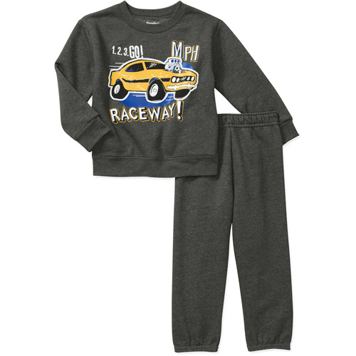 Garanimals Baby Toddler Boy 2-Piece Graphic Fleece Pullover and Pant Set