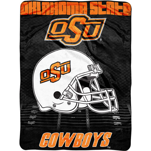 "NCAA Overtime 60"" x 80"" Blanket, Oklahoma State"