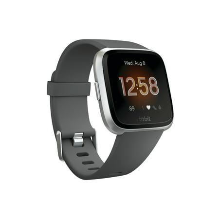 Fitbit Versa LITE Edition Smartwatch, Charcoal/Silver Aluminum