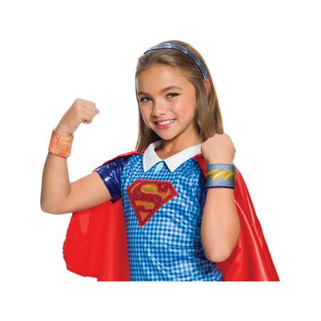 Girl's DC Super Hero Girls Supergirl Costume Accessory Kit (Supergirl Costume Accessories)