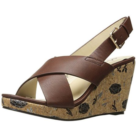 Brown Espadrille - Annie Shoes Women's Hypo Drive Espadrille Wedge Sandal, Brown, 6 M US