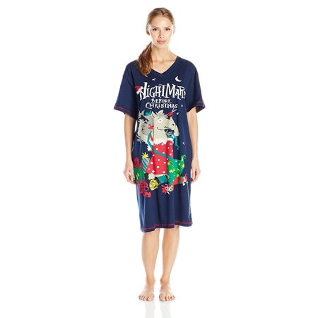 Little Blue House by Hatley Women's Holiday V-Neck Sleepshirt