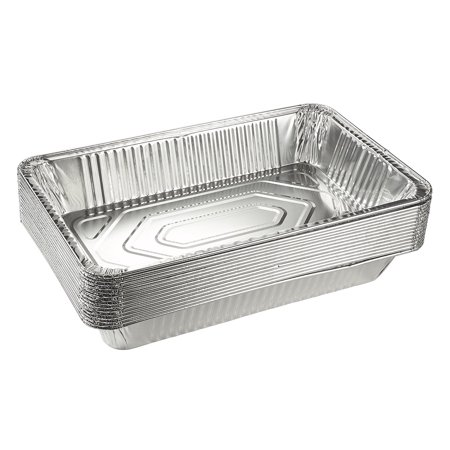 Heavy Duty Full-Size Deep Disposable Aluminum Foil Steam Table Pans for Cooking, Roasting, Broiling, Baking - 21 x 13 x 3 (20 (Steam Table Pan Rack)