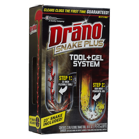 Drano Snake Plus Drain Cleaning Kit 16.0 oz.(pack of 2)