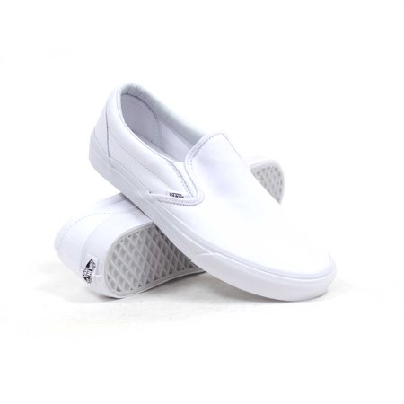 Vans Classic Slip-On (True White) Men's Skate - Vans Slip Ons Girls