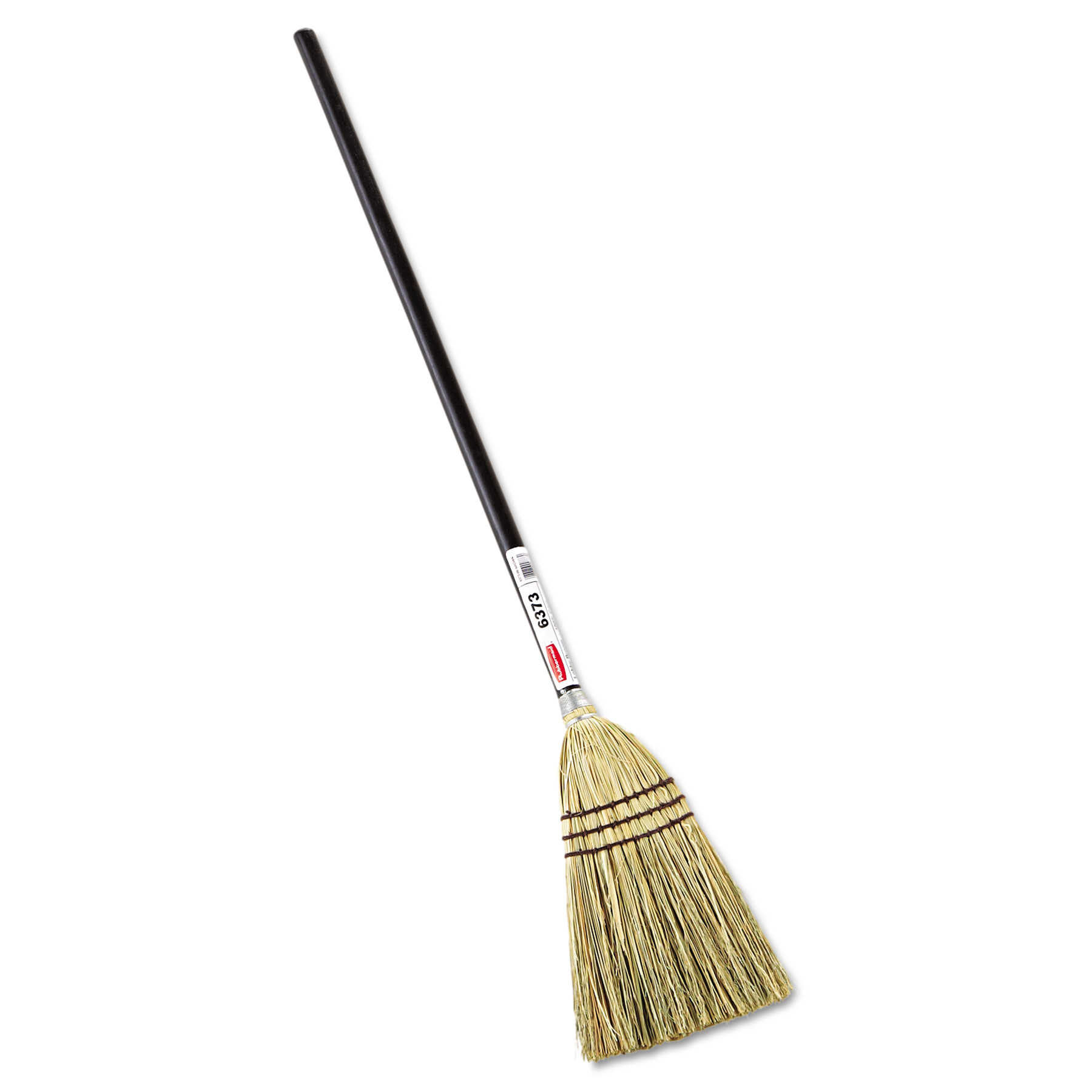 "Rubbermaid Commercial Lobby 38"" Handle Corn-Fill Broom, Brown by RUBBERMAID COMMERCIAL PROD."