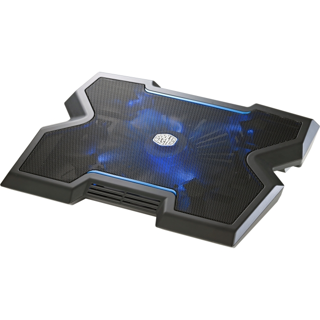 Cooler Master NotePal X3 - Gaming Laptop Cooling Pad with 200mm Blue LED Fan - 1 Fan (s) - 850 rpm - Metal, Plastic, Rubb