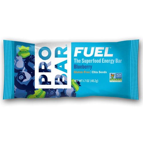 Probar Fuel Energy Fuel Superfood Energy Bar, Blueberry - 1.7 Oz, 12 Ea