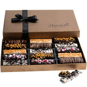 Barnett's Cookies Gourmet Chocolate Covered Hazelnut Wafers | 2020 Food Gift Birthday Baskets | Prime Holiday, Thanksgiving, Christmas & Valentines Day Gifts Delivery For Him & Her, Men & Women