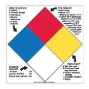 LABELMASTER H-L96R NFPA Diamond Sign,15inx15in,Vinyl G1861870