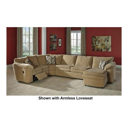 Signature Design by Ashley  Coats 44100-17-71-77-84 4-Piece Sectional Sofa with Right Arm Corner Chaise  Armless