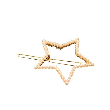 Funcee Women Girls Creative Alloy Pearl Hollow Geometric Hairgrip Hair Clips