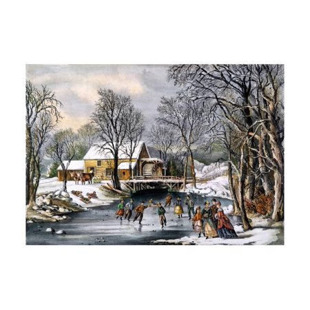 - Winter Pastime, 1870 Print Wall Art By Currier & Ives