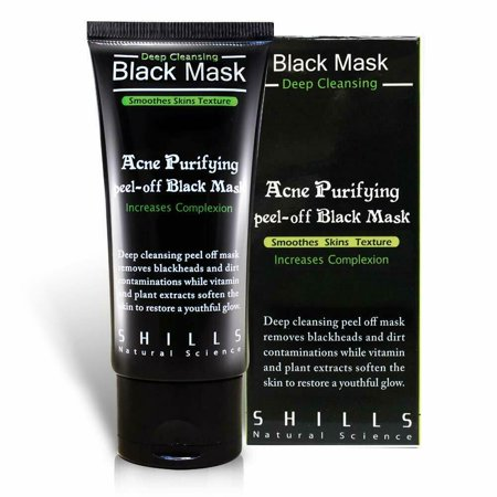 Shills Peel Off Charcoal Face Mask Deep Blackhead Acne Cleansing Black Facial Mud Mask (2 Pack)