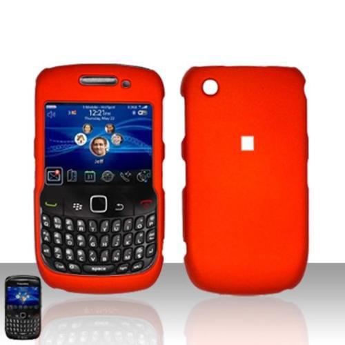 Insten Rubberized Case Cover - Orange For Blackberry Curve 8520
